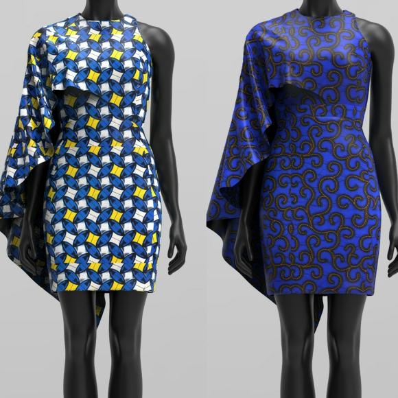 ZOYA CAPE DRESS